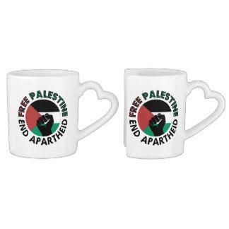 Drapeau libre de la Palestine d'apartheid de fin Mug