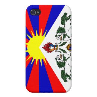 Drapeau libre du Thibet - drapeau tibétain Étui iPhone 4/4S
