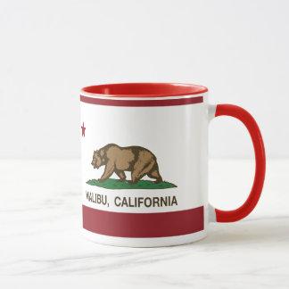 Drapeau Malibu de République de la Californie Mugs