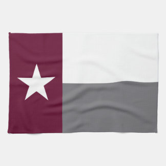Drapeau marron du Texas Serviette Pour Les Mains