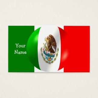 Drapeau mexicain avec le carte de visite de bulle
