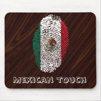 drapeau mexicain d'empreinte digitale de contact tapis de souris
