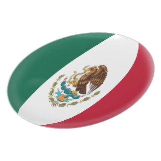 Drapeau mexicain du Mexique Assiettes En Mélamine