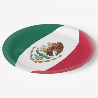 Drapeau mexicain du Mexique Assiettes En Papier