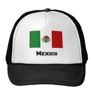 Drapeau mexicain et texte casquettes