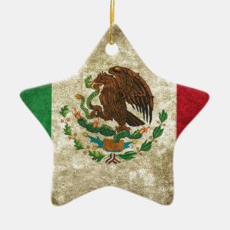 Drapeau mexicain ornement étoile en céramique