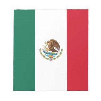 Drapeau mexicain patriotique bloc-note