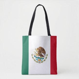 Drapeau mexicain patriotique tote bag