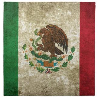 Drapeau mexicain serviettes en tissus