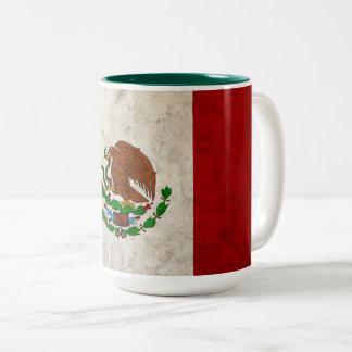 Drapeau mexicain tasse 2 couleurs