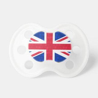 Drapeau moderne de l'anglais de motif sucettes pour bébé