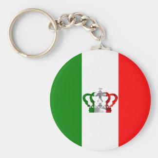 Drapeau moderne d'Italien de l'Italie de couronne Porte-clés