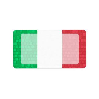 Drapeau moderne d'Italien de motif Étiquette D'adresse