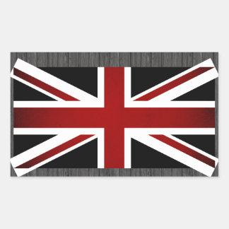 Drapeau monochrome du Royaume-Uni Stickers Rectangulaires