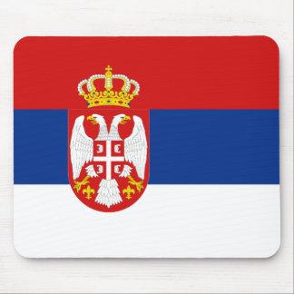 Drapeau Mousepad de la Serbie Tapis De Souris