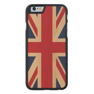 Drapeau national britannique d'Union Jack Coque Carved® iPhone 6 En Érable