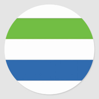 Drapeau national de Sierra Leone Autocollant Rond