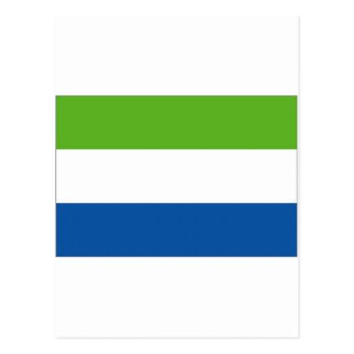 Drapeau national de Sierra Leone Carte Postale