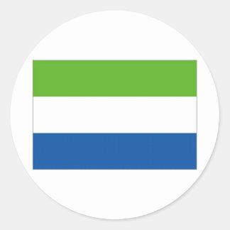 Drapeau national de Sierra Leone Sticker Rond