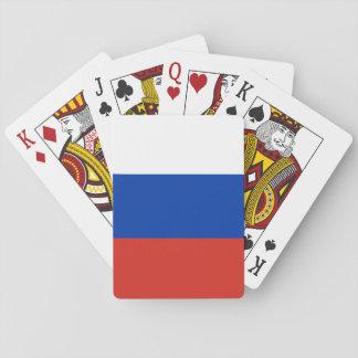 Drapeau national du monde de la Russie Cartes À Jouer