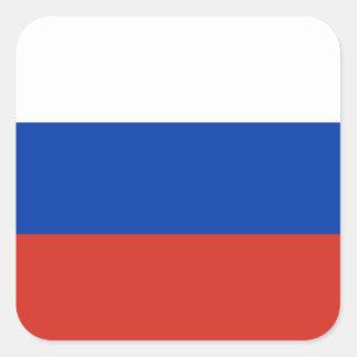 Drapeau national du monde de la Russie Sticker Carré