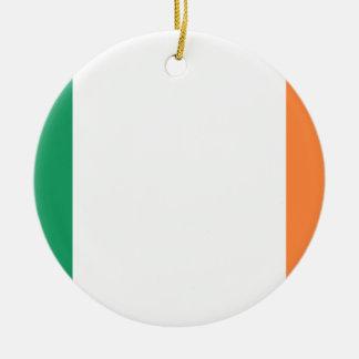 Drapeau national du monde de l'Irlande Ornement Rond En Céramique