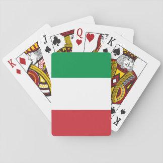 Drapeau national du monde de l'Italie Jeux De Cartes