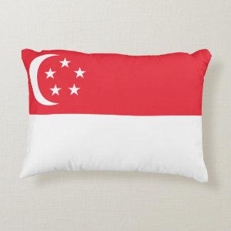 Drapeau national du monde de Singapour Coussins Décoratifs