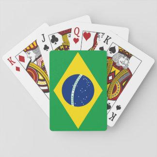 Drapeau national du monde du Brésil Jeux De Cartes