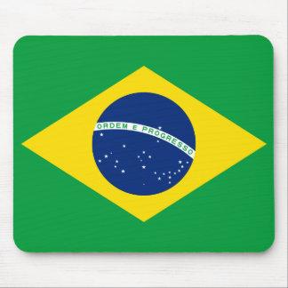 Drapeau national du monde du Brésil Tapis De Souris