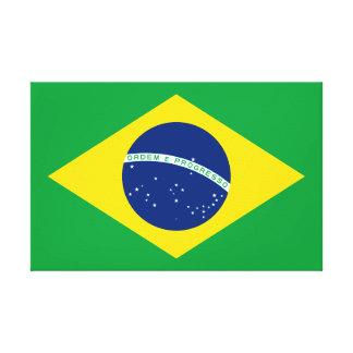 Drapeau national du monde du Brésil Toile
