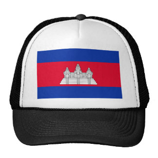 Drapeau national du monde du Cambodge Casquette De Camionneur