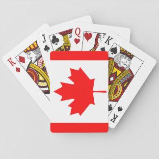Drapeau national du monde du Canada Jeux De Cartes
