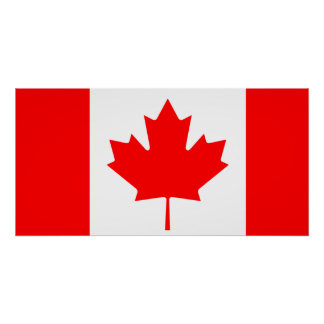 Drapeau national du monde du Canada Poster