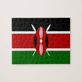 Drapeau national du monde du Kenya Puzzle