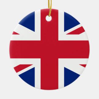 Drapeau national du monde du Royaume-Uni Ornement Rond En Céramique