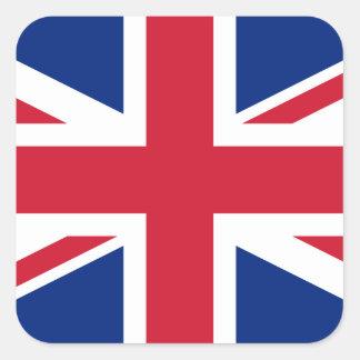 Drapeau national du monde du Royaume-Uni Sticker Carré