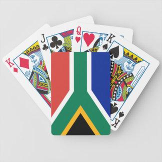 Drapeau national sud-africain jeu de cartes