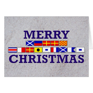 Drapeau nautique - carte de Noël de Sandy