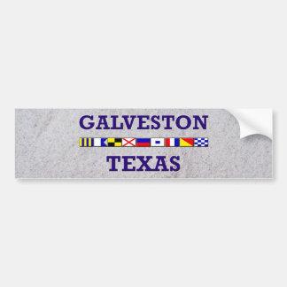 Drapeau nautique de Galveston - sable Bumpersticke Autocollant De Voiture