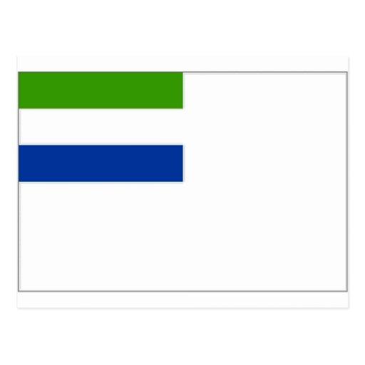 Drapeau naval de Sierra Leone Cartes Postales