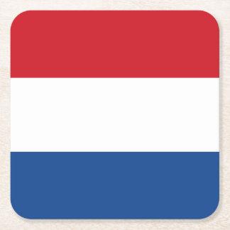 Drapeau néerlandais, Hollande, néerlandaise Dessous-de-verre Carré En Papier
