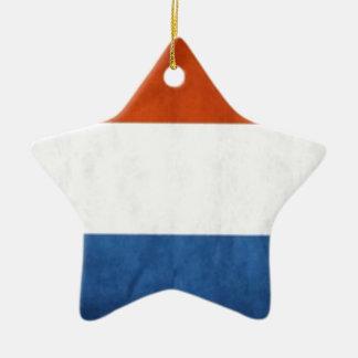 Drapeau néerlandais ornement étoile en céramique