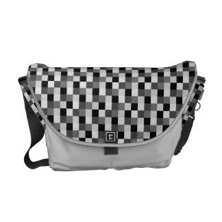 Drapeau noir Checkered abstrait de motif de mosaïq Sacoches