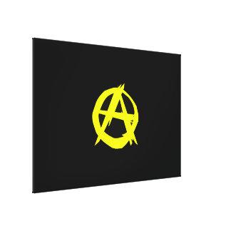 Drapeau noir et jaune de capitalisme d'Anarcho Toiles