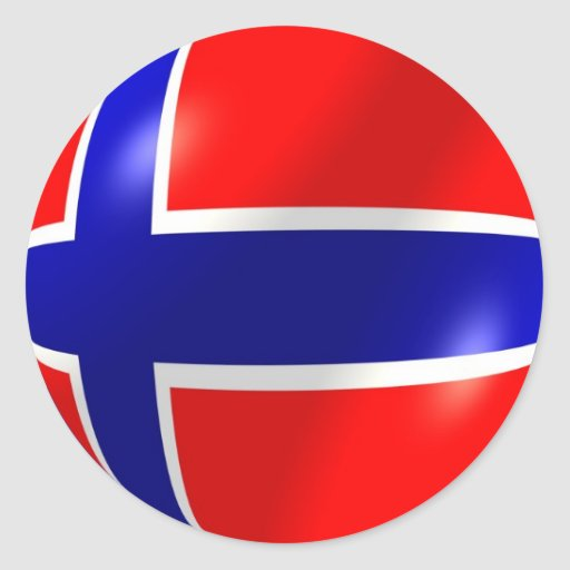 drapeau norv u00e9gien avec l u0026 39 autocollant de bulle