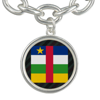Drapeau officiel de la république centrafricaine bracelets avec breloques