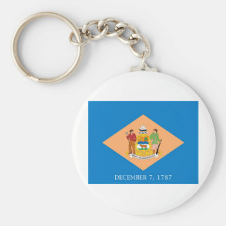 Drapeau officiel d'état du Delaware Porte-clé Rond
