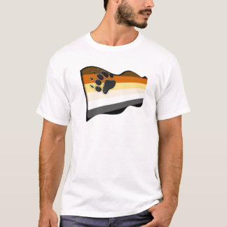 Drapeau onduleux de l'ours 3D T-shirt