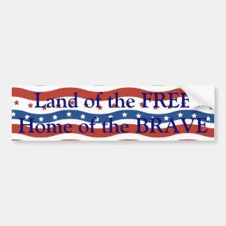 Drapeau onduleux patriotique de liberté de bannièr autocollant pour voiture